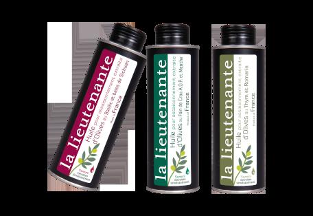 Huiles aux saveurs authentiques extraites d'olives de nos vergers