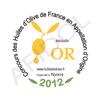Concours des Huiles d'Olive de France en Appellation d'Origine de Nyons - Médaille d'Or 2012