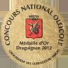 Concours National Oléicole de Draguignan - Médaille d'Or 2012