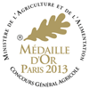 Concours Général Agricole de Paris - Médaille d'Or 2013