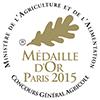 Concours Général Agricole de Paris - Médaille d'Or 2015